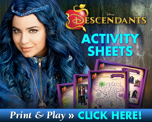 FREE Printable Disney Descendants Activity Sheets Mama