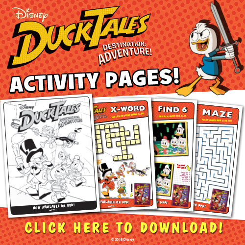 Download Disney DuckTales Destination Adventure activity pages