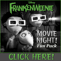 Download Frankenweenie Movie Night Fun Pack