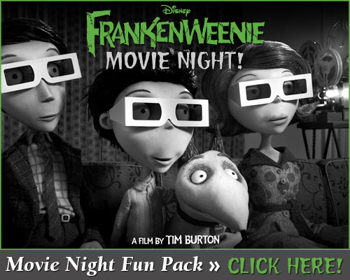Frankenweenie Movie Night Fun Pack