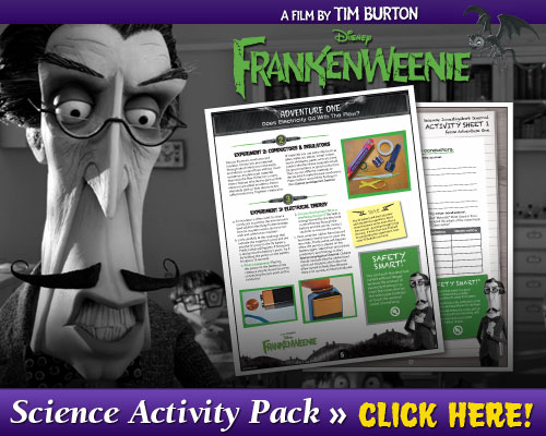 Download Frankenweenie Science Activity Pack