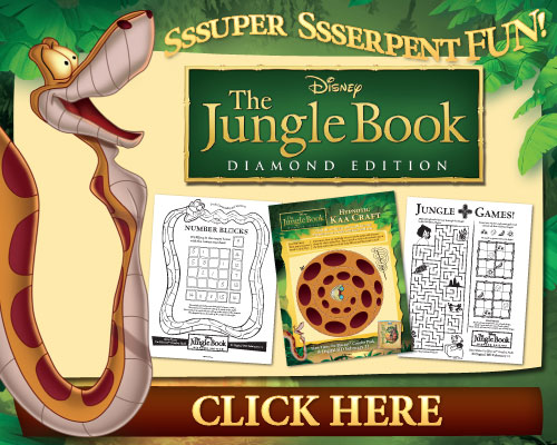 Great Kids DVDs Activities: Disney's The Jungle Book Super Serpent Fun #free #printables