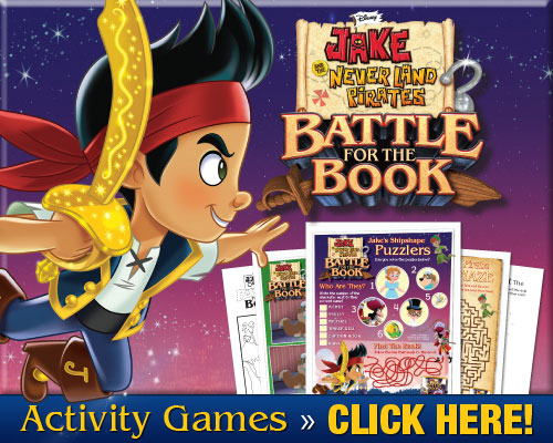 Download free Disney printables! Jake And The Neverland Pirates Battle for The Book printable activity pages and games