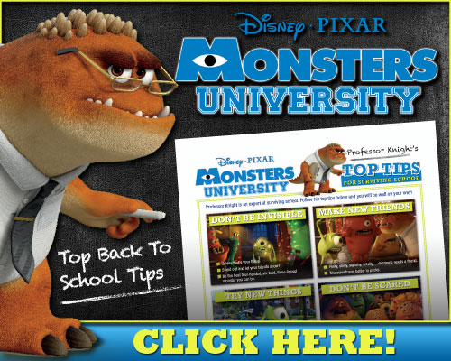 2013 Disney Movies: Free Disney Printable - Professor Knight's Top Tips for Surviving School