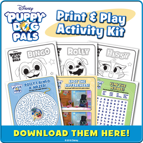 Puppy Dog Pals Free Activities Download Family Choice Awards