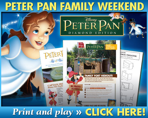 PPDE BTN 500x400 family FREE: Peter Pan Family Printable Activities