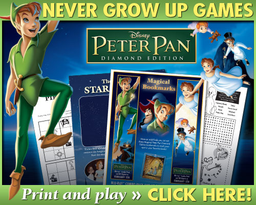 free printable peter pan activity sheets bookmarks and games