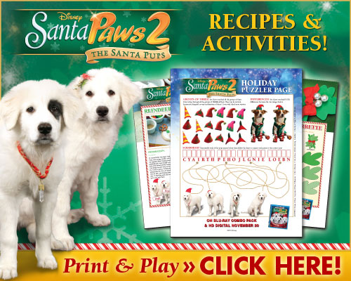 download santa paws 2 recipes and activities