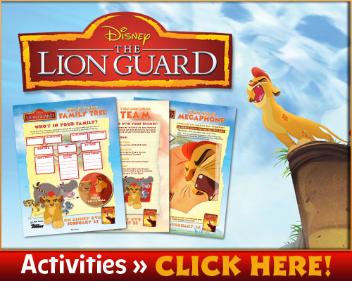 The Lion Guard: Return of the Roar Activity Sheets