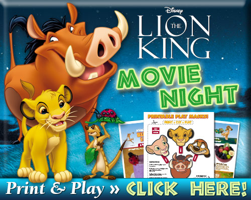 Download The Lion King Signature Movie Night  Print & Play Pack