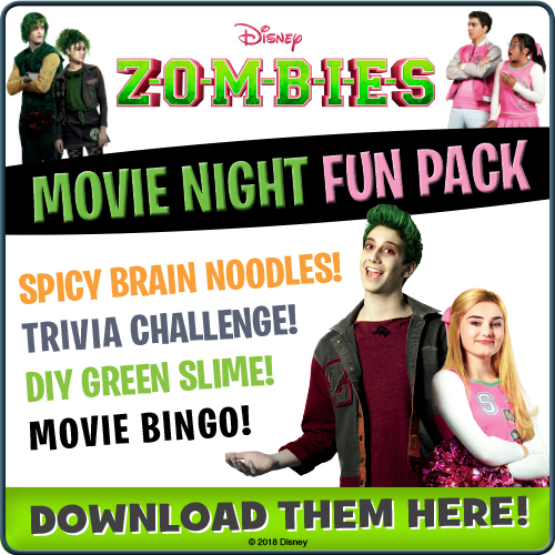 Download Disney ZOMBIES Movie Night Fun Pack