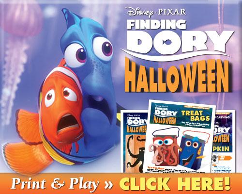 Download Finding Dory Halloween Activities