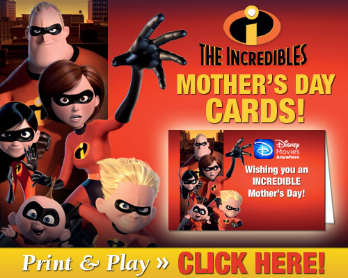 Download The Incredibles Mother's Day Cards