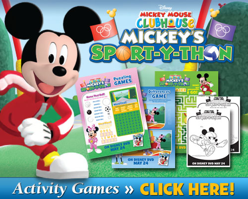 Mickey Mouse Clubhouse Activity Sheets