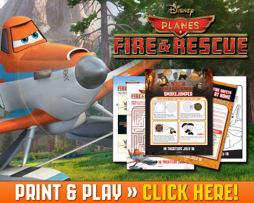 Download Print & Play Planes Fire & Rescue Free Activities