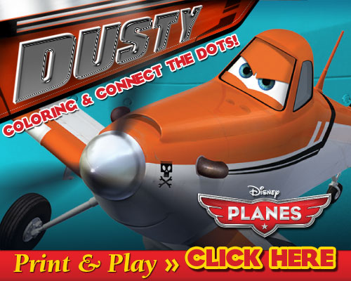 Disney Planes Coloring Sheets and Connect The Dots