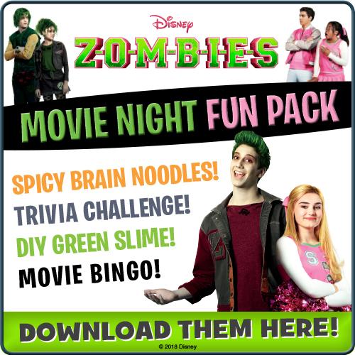 Download Disney ZOMBIES Movie Night Fun Pack